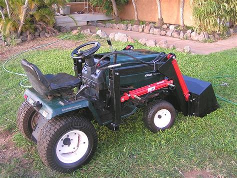 lawn tractor loader plans pictures to pin on