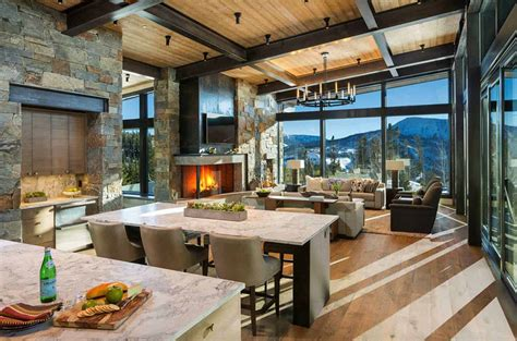 Modern-rustic Mountain Home With Spectacular Views In Big