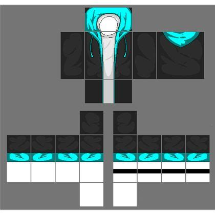 nike jacket template roblox black jacket with cyan blue hoodie a image by 2otaku4lyfe