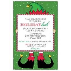 elf holiday bash invitations paperstyle