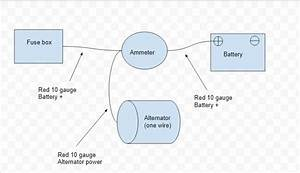 Ammeter One Wiring Alternator Diagram  Electrical