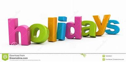 Word Holidays Parola Feste Feriados Vakantie Woord
