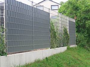 Gartenzaun Aus Metall : sichtschutzzaunmatten aus metall und kunststoff klemmschienen ~ Orissabook.com Haus und Dekorationen