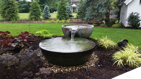 Aquascape Fountains by Aquascape Spillway Bowl Project In Kalamazoo R A Landscaping