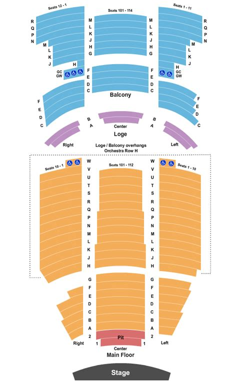 pantages theatre seating chart minneapolis
