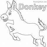 Donkey Coloring Printable Sheets Animals Visit Colors Preschool sketch template
