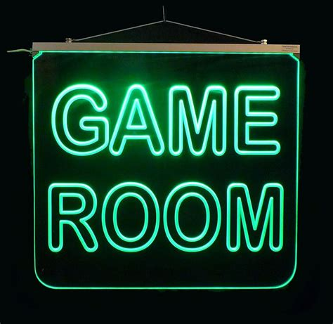 Game Room Led Sign, Man Cave Led Multicolor Changing Sign