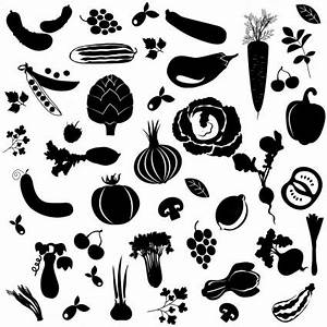 Big Set Of Vegetables-vector Silhouettes-free Vector Free ...