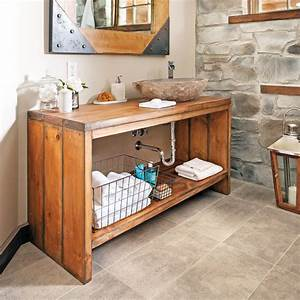 Poids D Une Stère De Bois : meuble vasque en bois faire soi m me relooker meubles ~ Carolinahurricanesstore.com Idées de Décoration