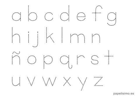 abecedario infantil discontinuo para imprimir papelisimo