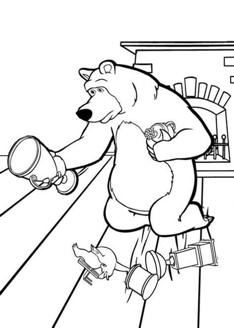 disegni di mascia e orso da colorare disegni da colorare di masha e orso