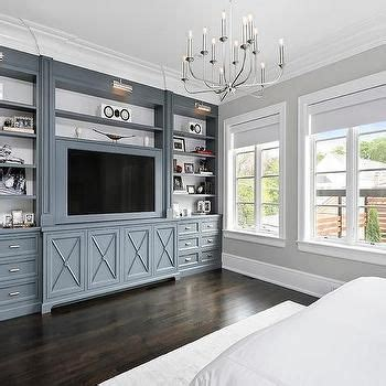 Bedroom Built Ins by Gunmetal Gray Bedroom Built Ins With Polished Nickel