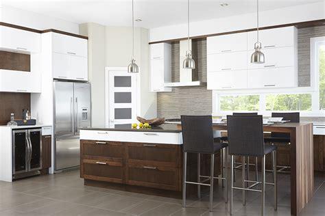cuisine blanc et noyer cuisine contemporaine en mdf laqué blanc pur armoires de