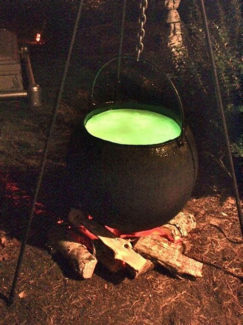 halloween full size bubbling cauldron prop outdoor