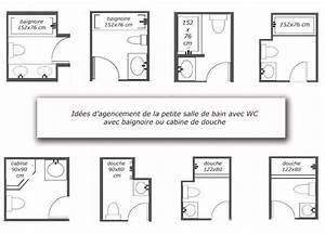 Plan Petite Salle De Bain Avec Wc : plans salle de bains petites surfaces familian ~ Melissatoandfro.com Idées de Décoration
