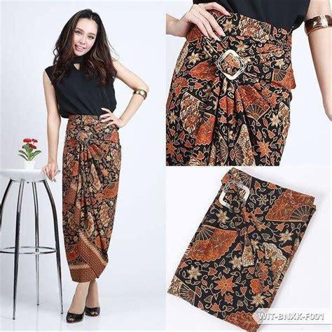 jual rok lilit serut  batik motif kipas good quality