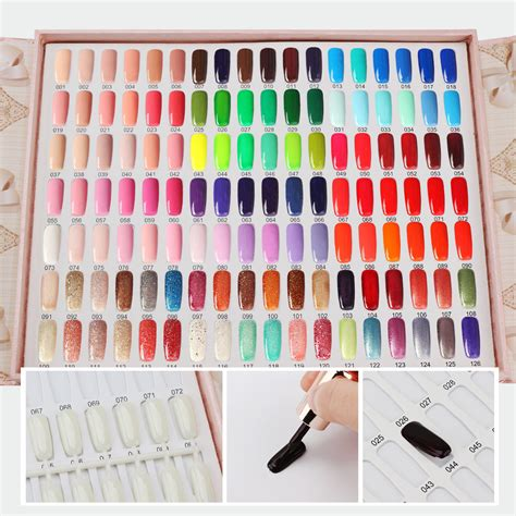 professional nail colors segbeauty 126 colors professional nail colors chart