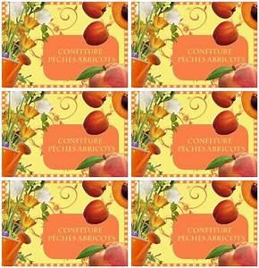 Mes étiquettes Gratuites à Imprimer : etiquettes confiture p ches abricots etiquettes tags ~ Nature-et-papiers.com Idées de Décoration
