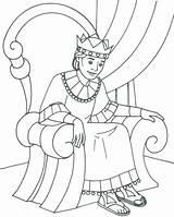 Solomon King Coloring Printable Bible Getcolorings Colorin sketch template