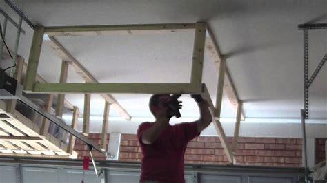 overhead garage storage systems unfinished diy overhead garage ceiling storage rack