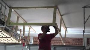Unfinished DIY Overhead Garage Ceiling Storage Rack