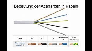 Unterschied Kabel Leitung : aderfarben bedeutung der einzelnen leiterfarben youtube ~ Yasmunasinghe.com Haus und Dekorationen