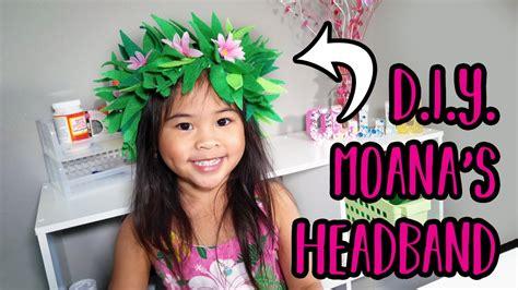 diy moana headband flower headband craft moana costume