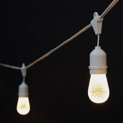 sun warm white led commercial string lights 21 white cord
