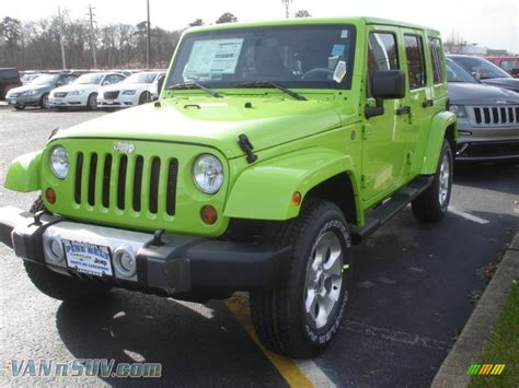 jeep unlimited green 2013 jeep wrangler unlimited sahara 4x4 in gecko green