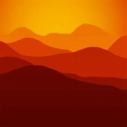 Sunset Sunrise Mountain Mountains Clipart Silhouette Landscape