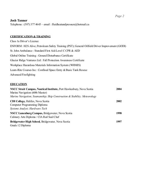 josh resume
