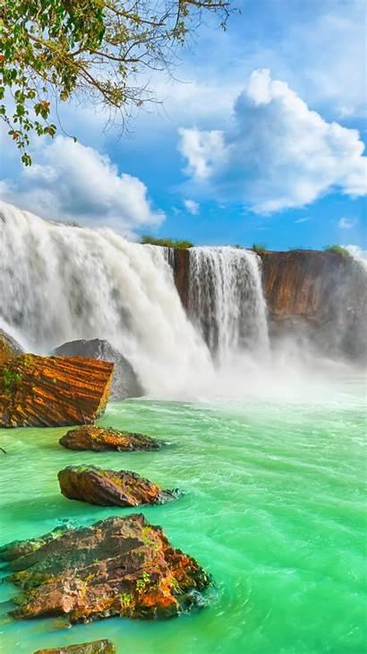 4k Waterfall Vietnam Nur Dry Nature Wallpapers