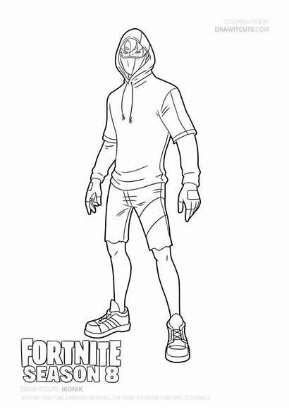 Coloring Draw Ikonik Fortnite Season Drawing Pages