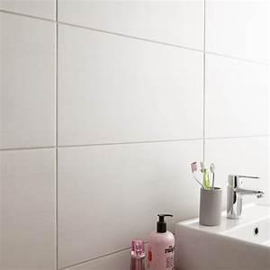 Carrelage Blanc Sol : carrelage sol et mur blanc eiffel x cm leroy merlin ~ Dode.kayakingforconservation.com Idées de Décoration