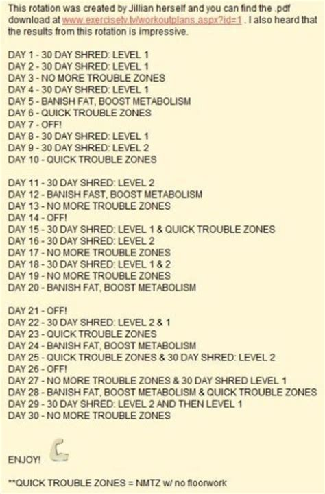 workout jillian michaels shred plan workouts dvd ripped fitness rotation loss schedule results health exercises meal weeks exercise fat weight