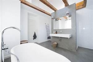 Badgestaltung Ohne Fliesen : wohnideen wandgestaltung maler fugenloses bad ohne ~ Michelbontemps.com Haus und Dekorationen