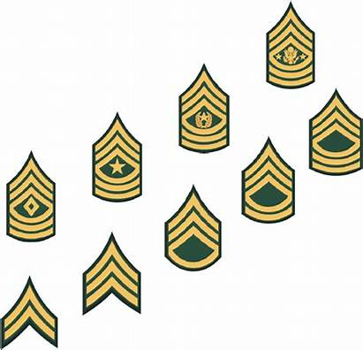 Rank Csm Army Clipart Nco Insignia Related