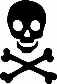 Skull And Crossbones Stencil Girly