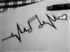 Cute Love Music Drawing