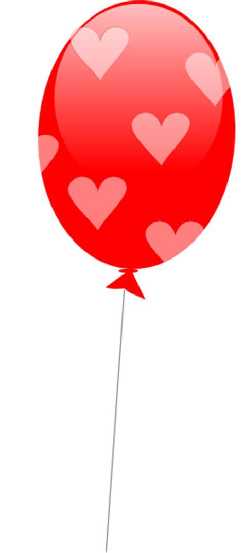 red balloon  hearts clip art  clkercom vector
