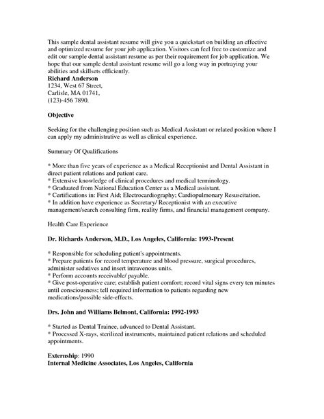 Fresher Lecturer Resume Objective by Dental Assistant Resume Objective Free Retail Buyer Resume
