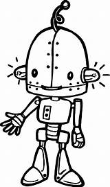 Robot Coloring Cartoon Drawing Ampule Plain Getdrawings Wecoloringpage Robots Printable Sheets Line Olphreunion sketch template