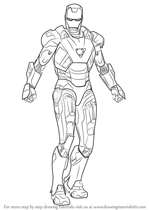 learn   draw iron man iron man step  step