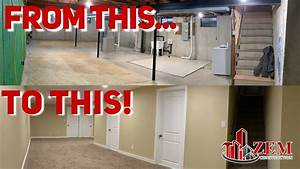 How To Finish Your Basement  Time Lapse - 2019