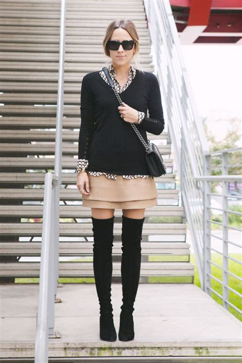 ways  wear thigh high boots  winter glamour
