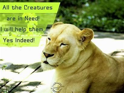 Slogans Help Them Creatures Indeed Need Wildlife