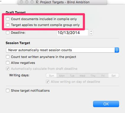 Track Your Word Count Progress With Scrivener