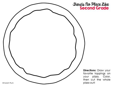 pizza template there s no place like second grade and now third cooking up a great year
