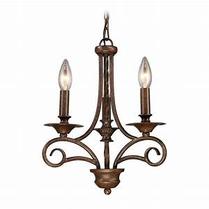 Mini chandelier in antique bronze finish