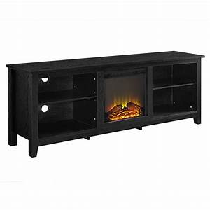Walker edison 70 inch tv stand with electric fireplace for 100 inch media console